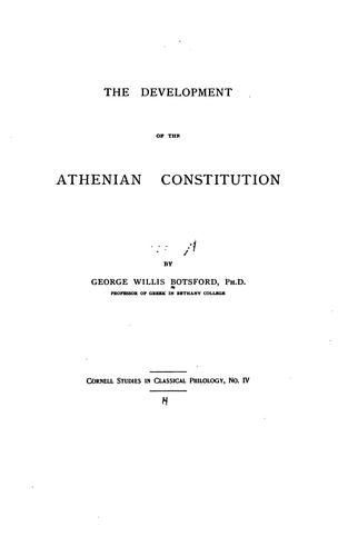 The Development of the Athenian Constitution