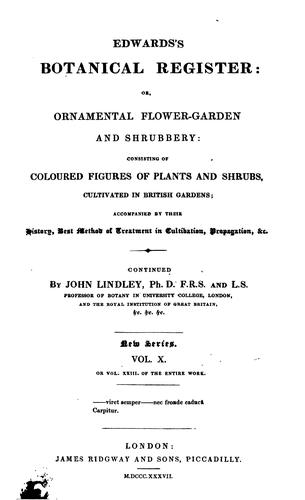 Edwards's Botanical Register