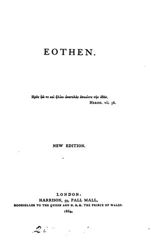 Eothen by A.W. Kinglake.