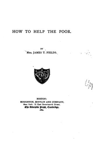 How to Help the Poor