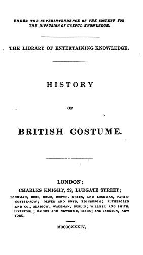 History of British costume by J.R. Planché.