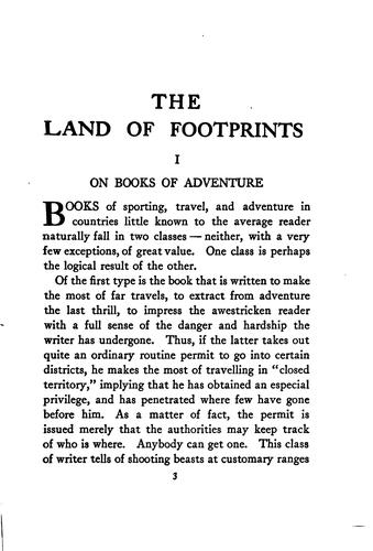 The Land of Footprints …