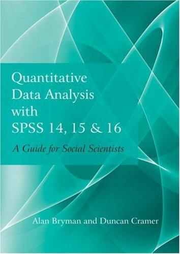 Download Quantitative Data Analysis with SPSS 14, 15 & 16