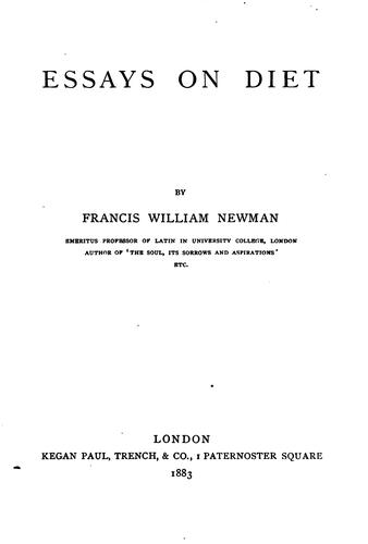 Essays on Diet by Francis William Newman