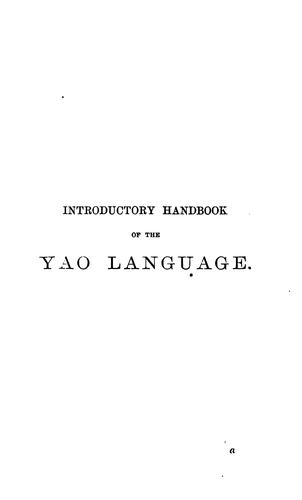 Introductory Handbook of the Yao Language by Alexander Hetherwick