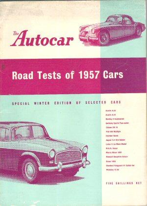Road tests reports 1957 by Autocar.